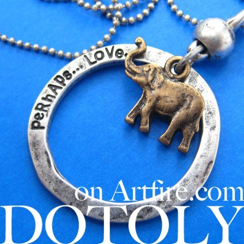 elephant-animal-hoop-pendant-necklace-in-bronze-on-silver
