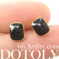 small-rectangular-black-on-gold-stud-earrings