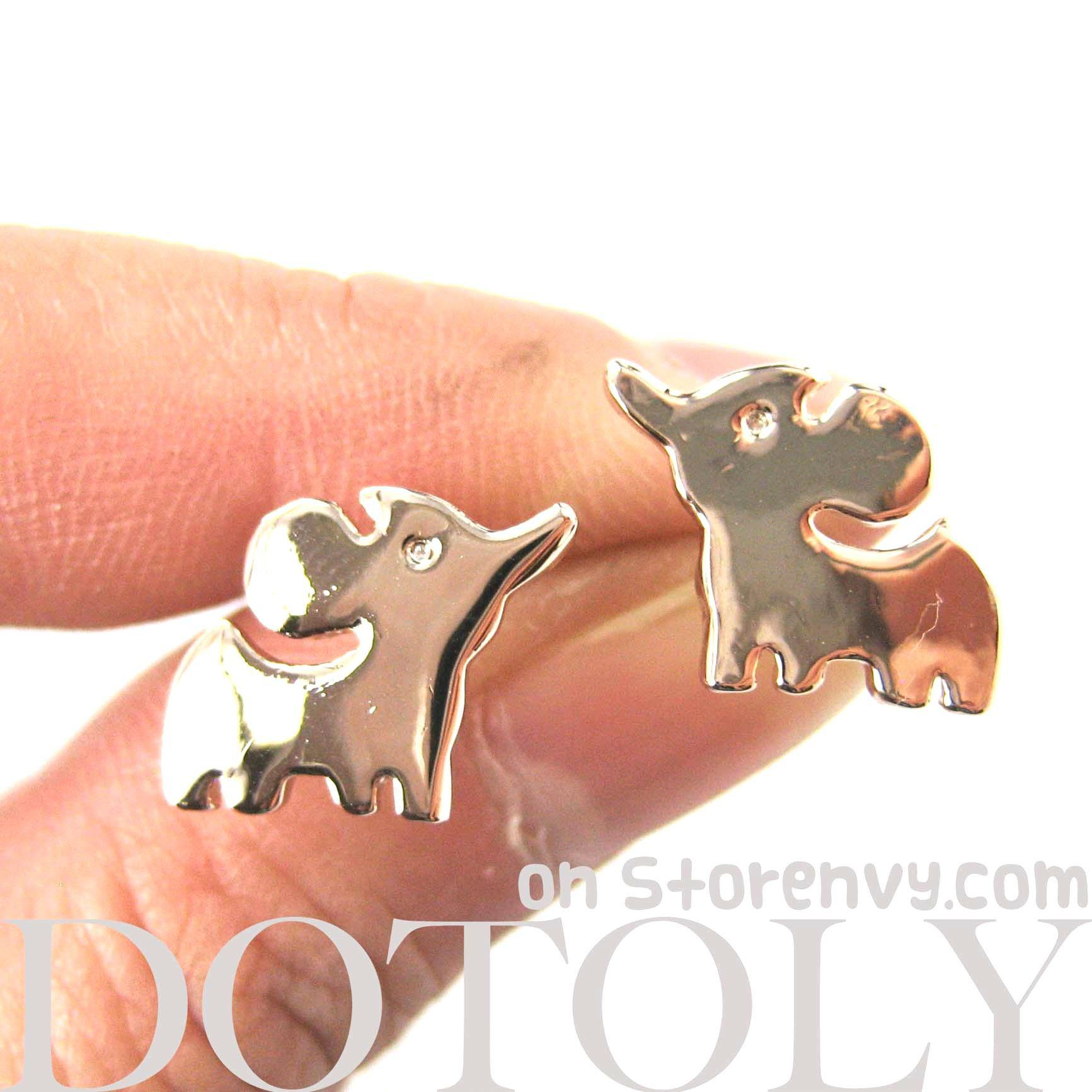 small-elephant-silhouette-animal-stud-earrings-in-rose-gold