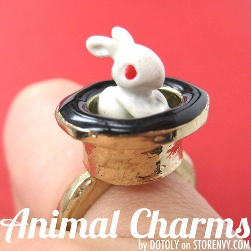 magical-bunny-rabbit-in-top-hat-animal-ring-size-6-5-only