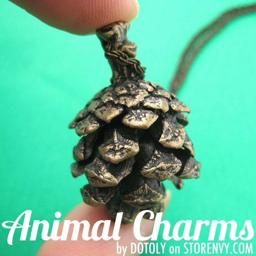 realistic-3d-pinecone-nut-charm-necklace-in-bronze