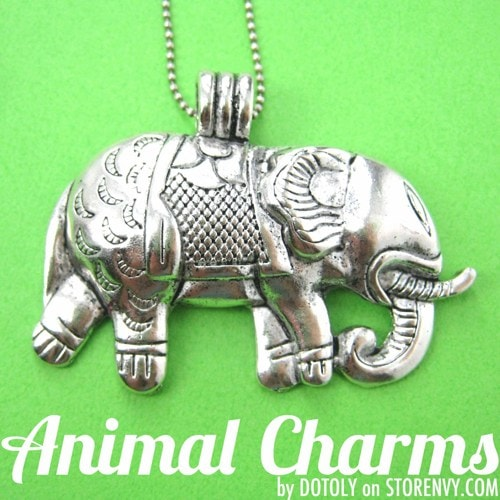 large-elephant-animal-charm-necklace-in-silver
