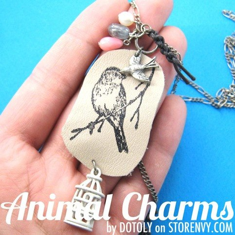 unique-ink-stamped-sparrow-bird-animal-charm-necklace