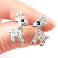 small-giraffe-silhouette-animal-stud-earrings-in-silver