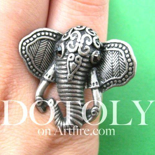 adjustable-elephant-animal-ring-in-silver-with-patterned-detail
