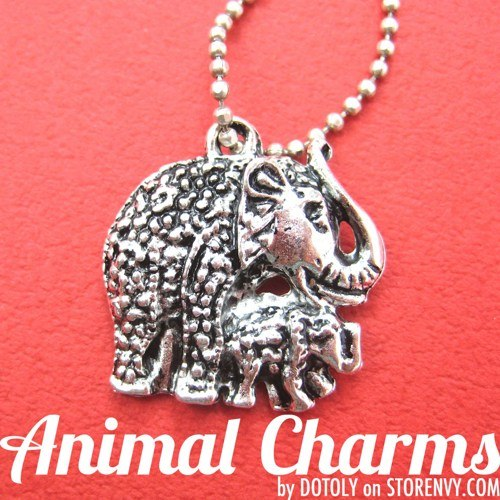 mom-and-baby-elephant-animal-charm-necklace-in-silver