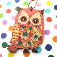 ink-on-wood-owl-bird-feather-animal-necklace-in-pink