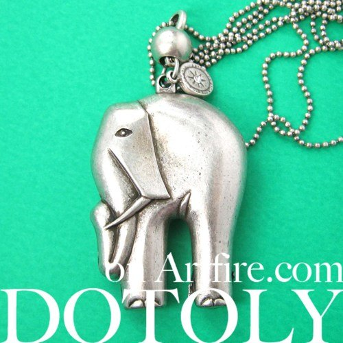 3d-elephant-charm-animal-jewelry-necklace-in-silver