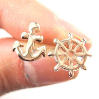 small-anchor-and-wheel-nautical-stud-earrings-in-rose-gold