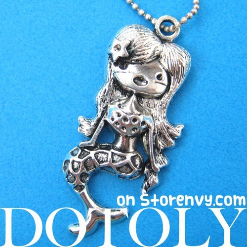 super-cute-mermaid-charm-necklace-in-silver