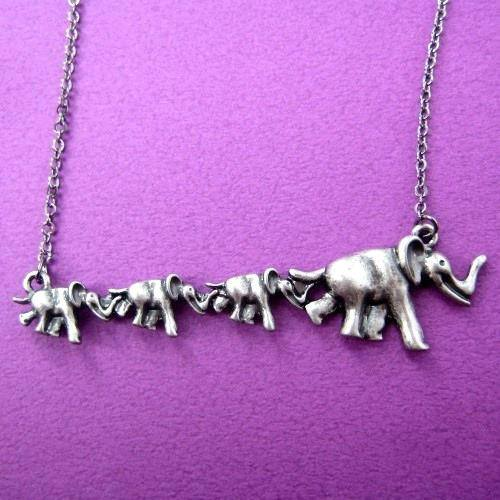 elephant-animal-charm-necklace-in-silver