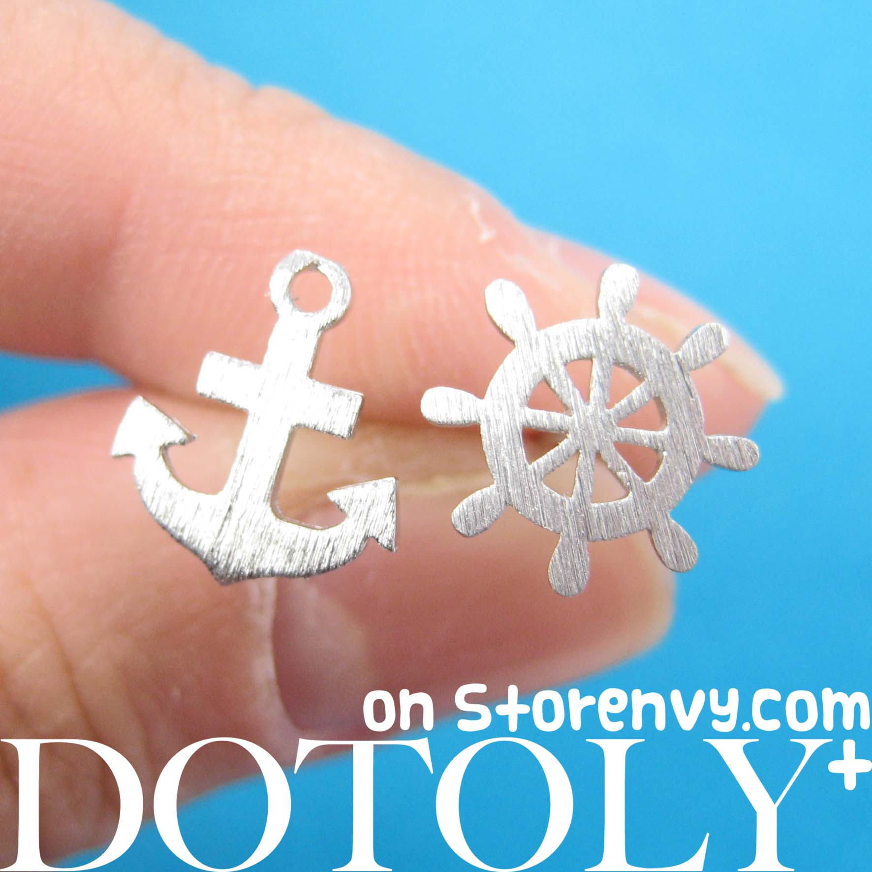 anchor-and-wheel-nautical-studs-with-sterling-silver-posts