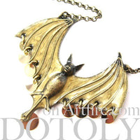 unique-bat-animal-wings-charm-necklace-in-bronze