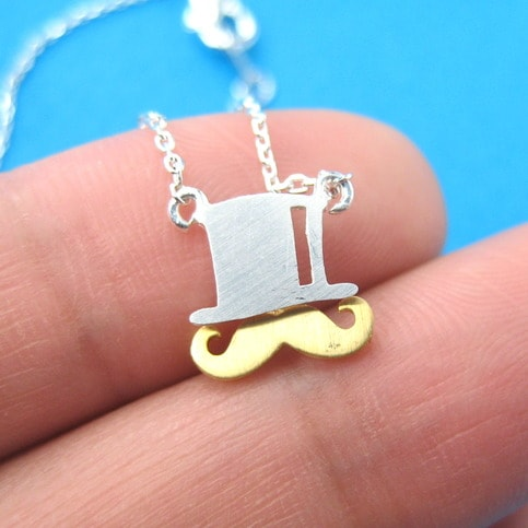 moustache-and-top-hat-necklace-in-silver