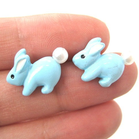 bunny-rabbit-animal-stud-earrings-in-light-blue-with-pearls-super-cute