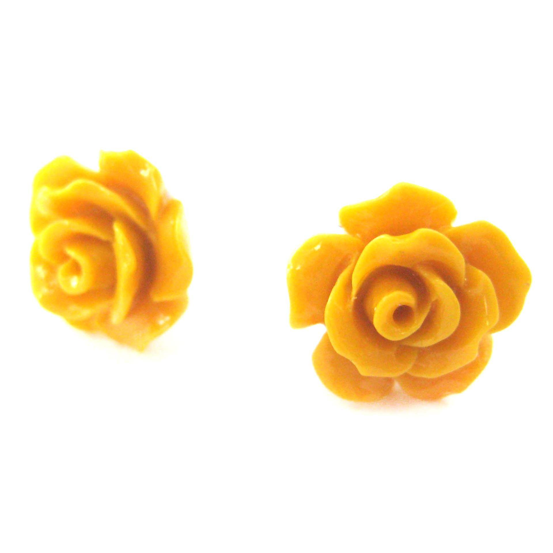 pretty-floral-rose-resin-stud-earrings-in-yellow
