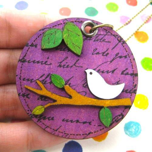 ink-on-wood-dove-bird-animal-pet-on-a-branch-pendant-necklace-purple
