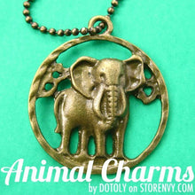 realistic-elephant-animal-coin-charm-necklace-in-bronze