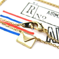 Miniature Envelope Letter Charm Necklace in Gold | DOTOLY | DOTOLY