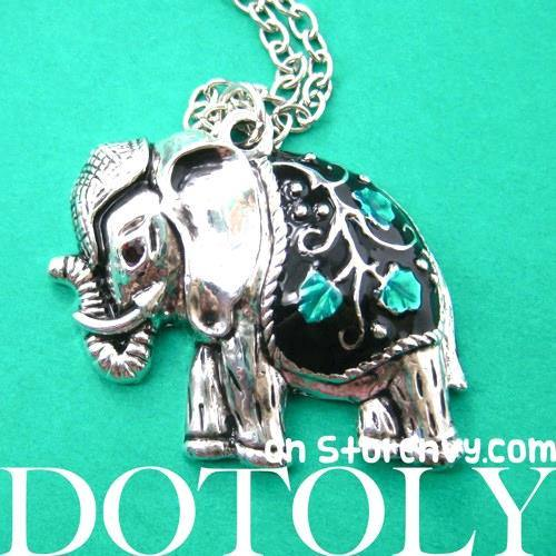 decorative-elephant-animal-charm-necklace-in-silver-with-floral-detail