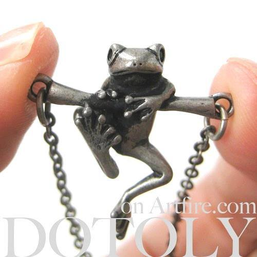 baby-frog-on-a-branch-animal-charm-necklace-in-silver