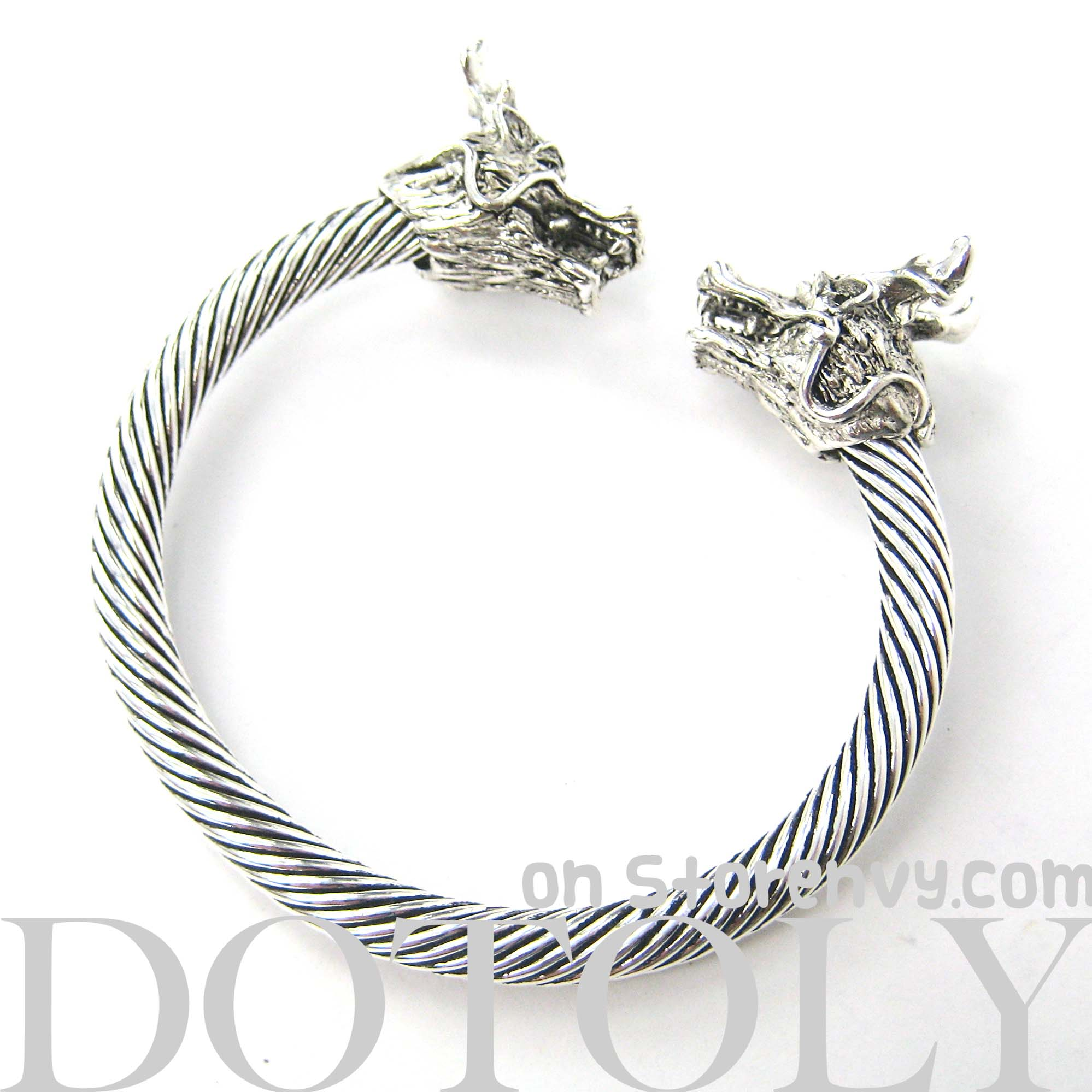 dragon-animal-bangle-bracelet-in-silver-animal-jewelry