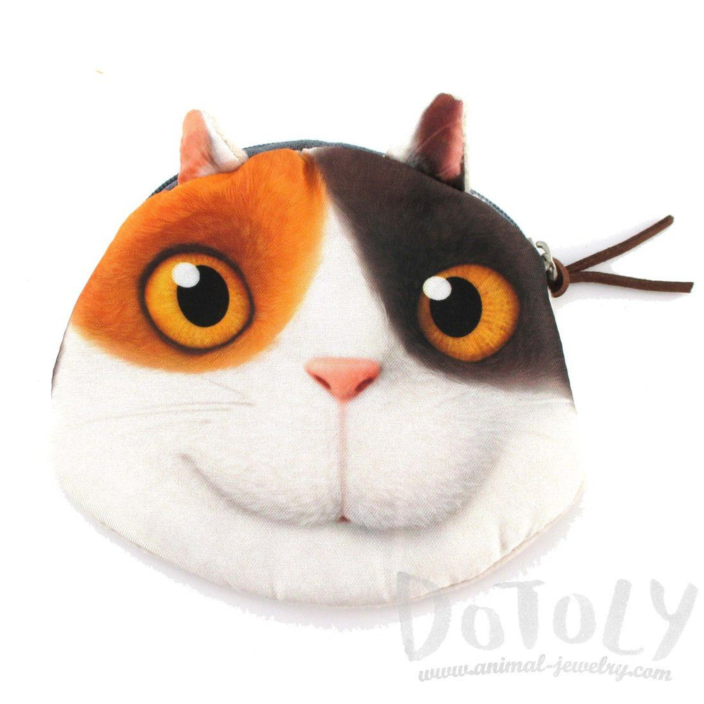 Dreamworks Home Calico Kitty Cat Face Shaped Coin Purse