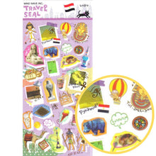 Egypt Themed Camel Pyramids Shaped Travel Sticker Seals