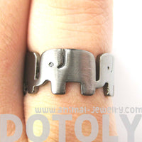 elephant-family-parade-animal-ring-in-gunmetal-silver-us-size-6-to-8-available