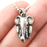 elephant-realistic-animal-charm-necklace-in-silver-animal-jewelry