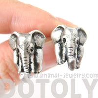 elephant-realistic-animal-stud-earrings-in-silver-animal-jewelry