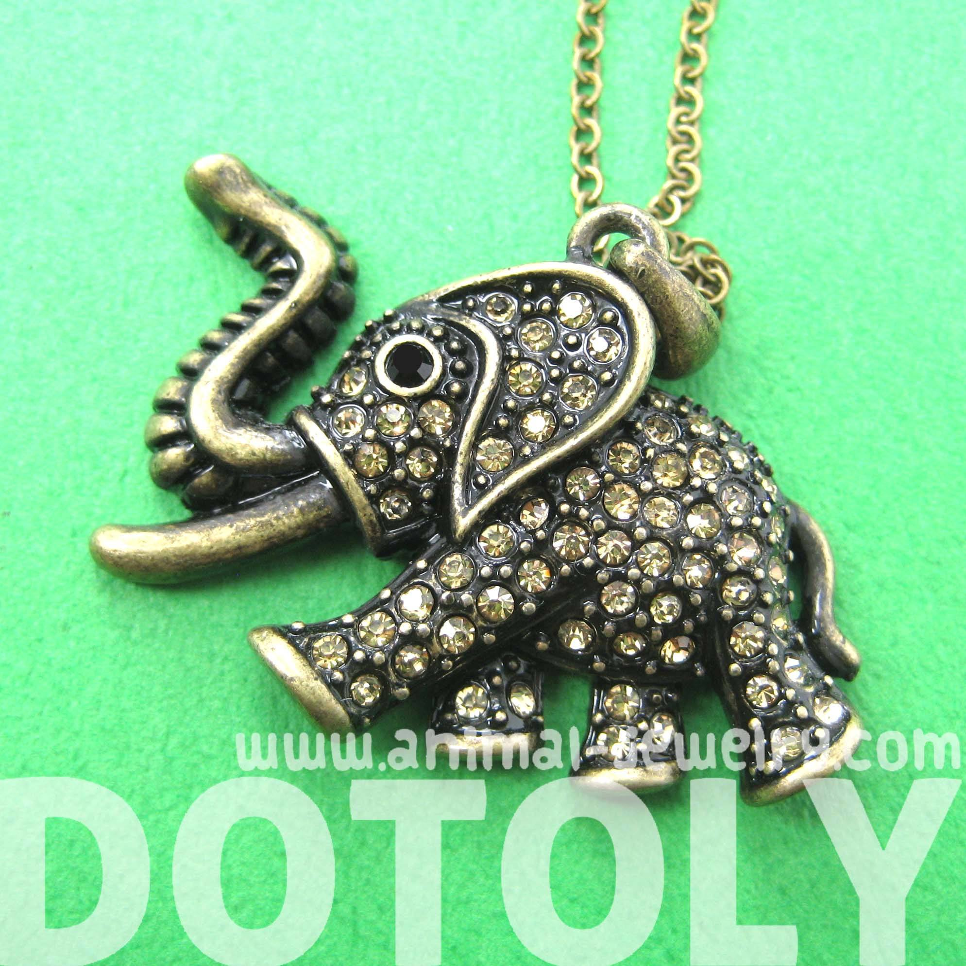 elephant-shaped-animal-pendant-necklace-in-brass-with-rhinestones-dotoly