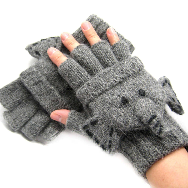 elephant-shaped-animal-themed-wool-knit-fingerless-popover-mitten-gloves-for-women