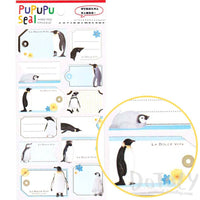 Emperor Penguin Photo Label Stickers for Scrapbooking