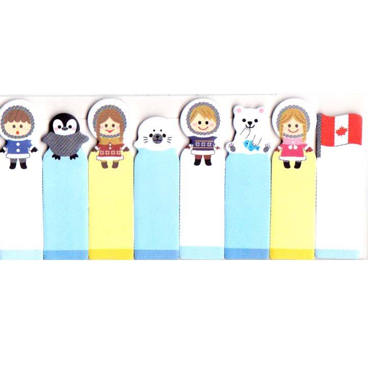 eskimos-penguins-polar-bears-and-seals-shaped-arctic-themed-post-it-index-sticky-bookmark-tabs
