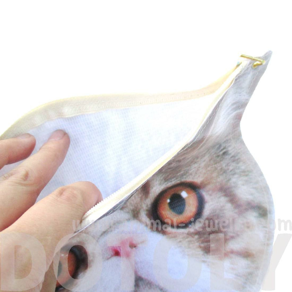 Calico Kitty Cat Face Shaped Vinyl Animal Themed Cross Shoulder Bag