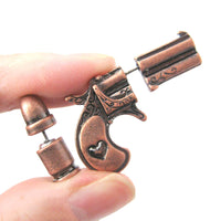 fake-gauge-earrings-gun-pistol-and-bullet-shaped-faux-plug-stud-earrings-in-copper