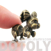 fake-gauge-earrings-puppy-dog-shaped-faux-plug-stud-earrings-in-brass