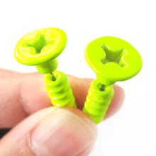 fake-gauge-earrings-realistic-screw-shaped-faux-plug-stud-earrings-in-neon-yellow