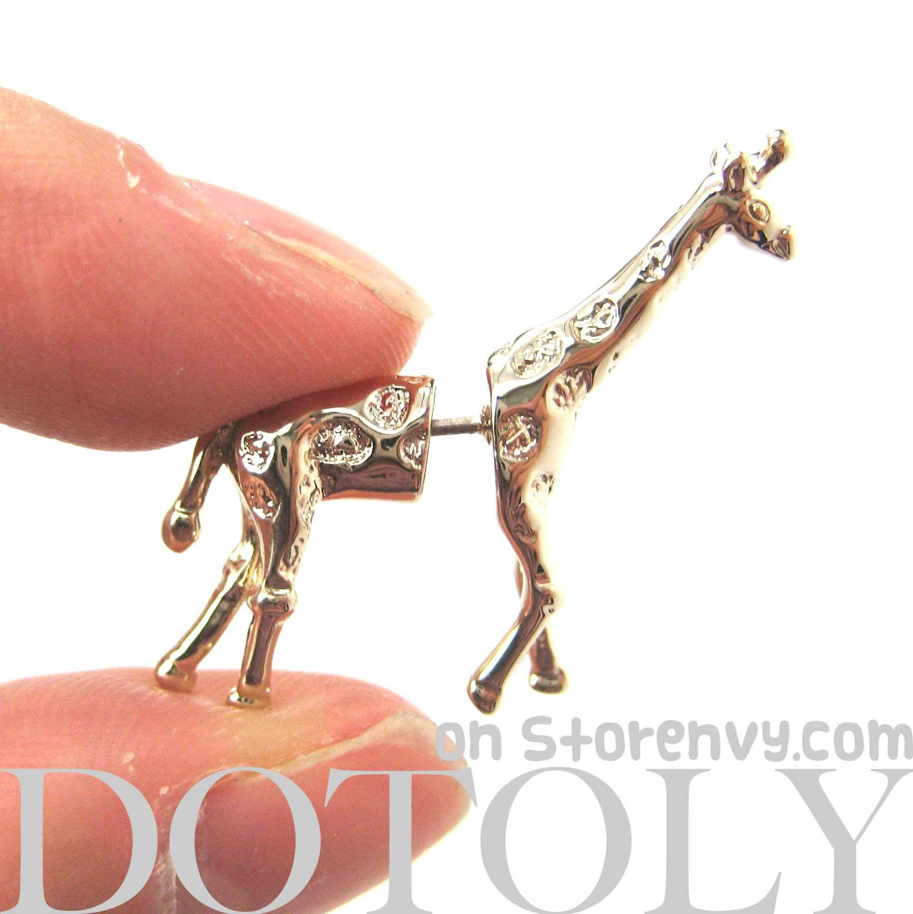 giraffe-shaped-fake-gauge-earrings