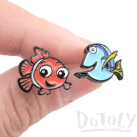 Finding Dory and Nemo Fish Shaped Stud Earrings | DOTOLY
