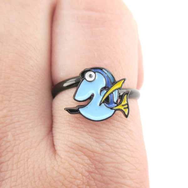 Finding Dory Blue Tang Fish Shaped Adjustable Ring | DOTOLY