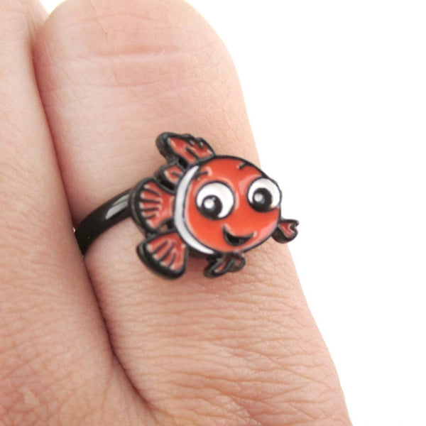 Finding Dory Nemo Clown Fish Shaped Adjustable Ring | DOTOLY