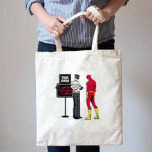 Flash Getting A Speeding Ticket Illustrated Canvas Tote Shopper Bag
