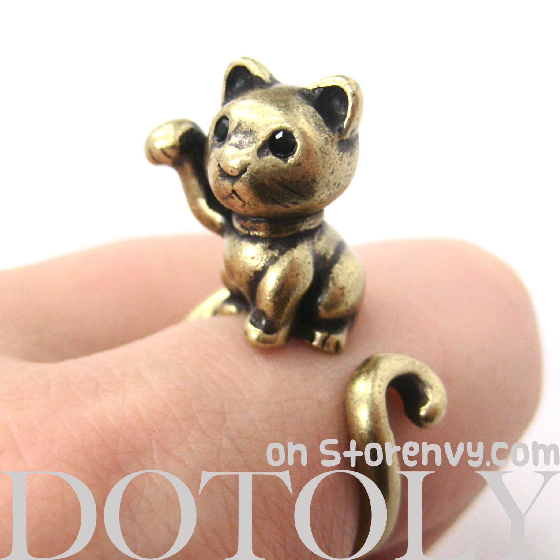 fortune-kitty-cat-animal-wrap-ring-in-brass