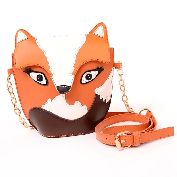 Fox Wolf Shaped Animal Themed Cross body Shoulder Bag for Women | DOTOLY