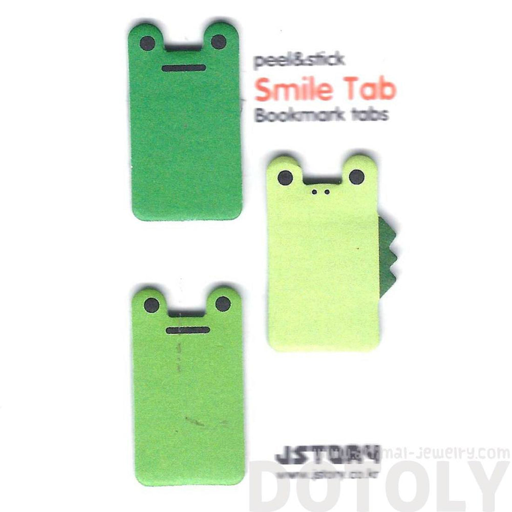 Frog Crocodile Lizard Shaped Animal Themed Memo Post-it Sticky Bookmark Tabs | DOTOLY