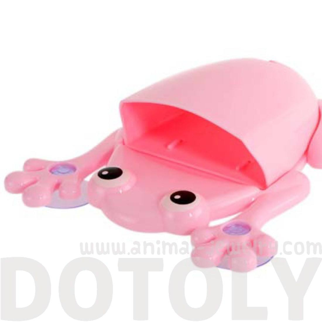 Cute Frog Shaped Toothbrush Holder Make Up Bathroom Organizer in Pink