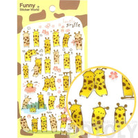 Cute and Funny Giraffe Shaped Animal Themed Illustrated Jelly Stickers