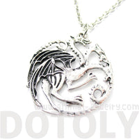 Game of Thrones House Targaryen Sigil Dragon Crest Pendant Necklace